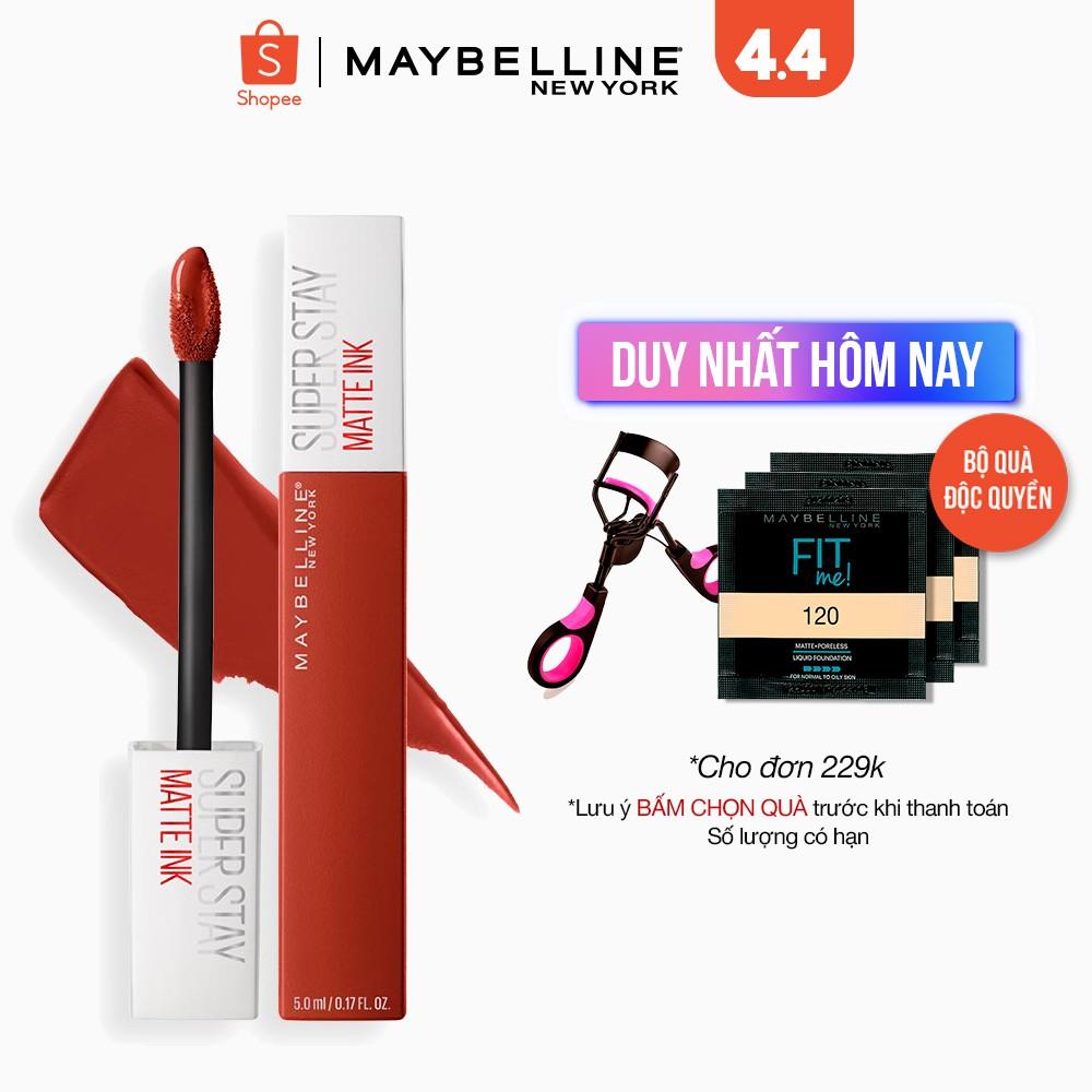 Coupon sản phẩm [Mã FMCGMALL250 -8% ĐH250k]Son Kem Lì 16h Lâu Trôi Maybelline New York Super Stay Matte Ink City Edition Lipstick 5ml