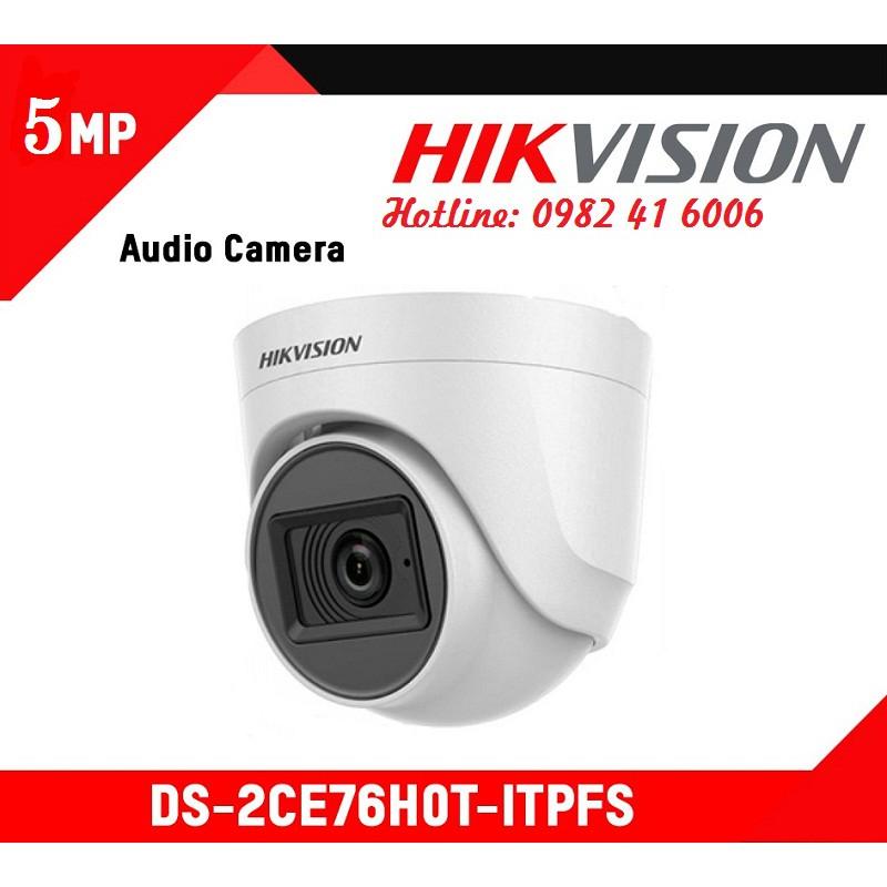 CAMERA HD-TVI HIKVISION 5MP DS-2CE76H0T-ITPFS, Tích hợp Mic | Shopee Việt  Nam