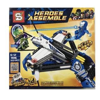 Đồ chơi lắp ráp xếp hình SY Heroes Assemble 7016