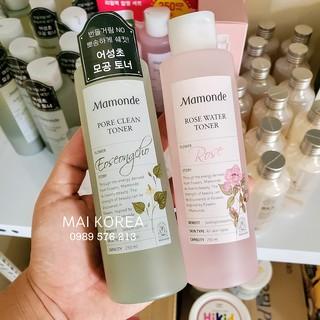 Nước Hoa Hồng Mamonde Rose Water Toner 250ml Hàn Quốc