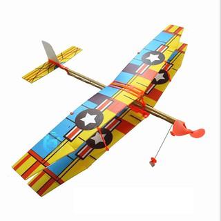 Bán sỉ combo 8 bộ mô hình máy bay 2 tầng cánh + Tặng 8 ná bắn chong chóng có đèn led