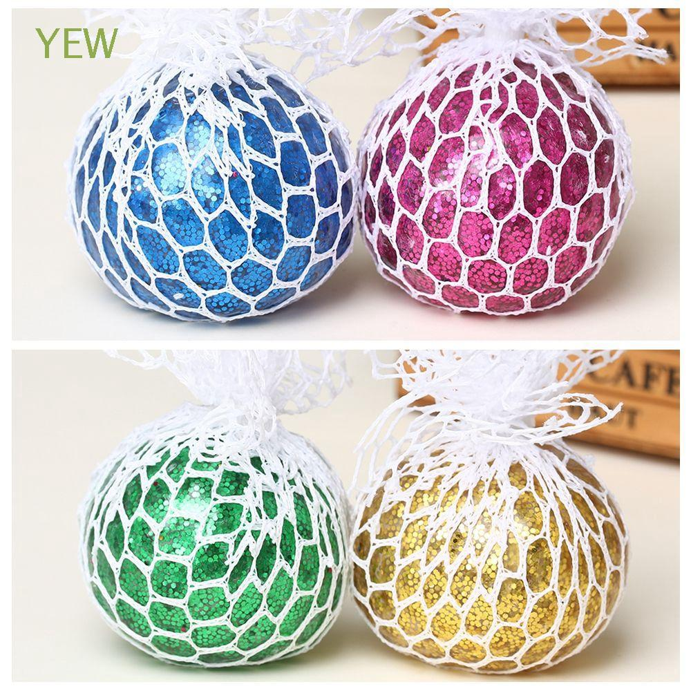 Stress Relief ADHD Autism Decompression Shinny Color Dust Grape Ball