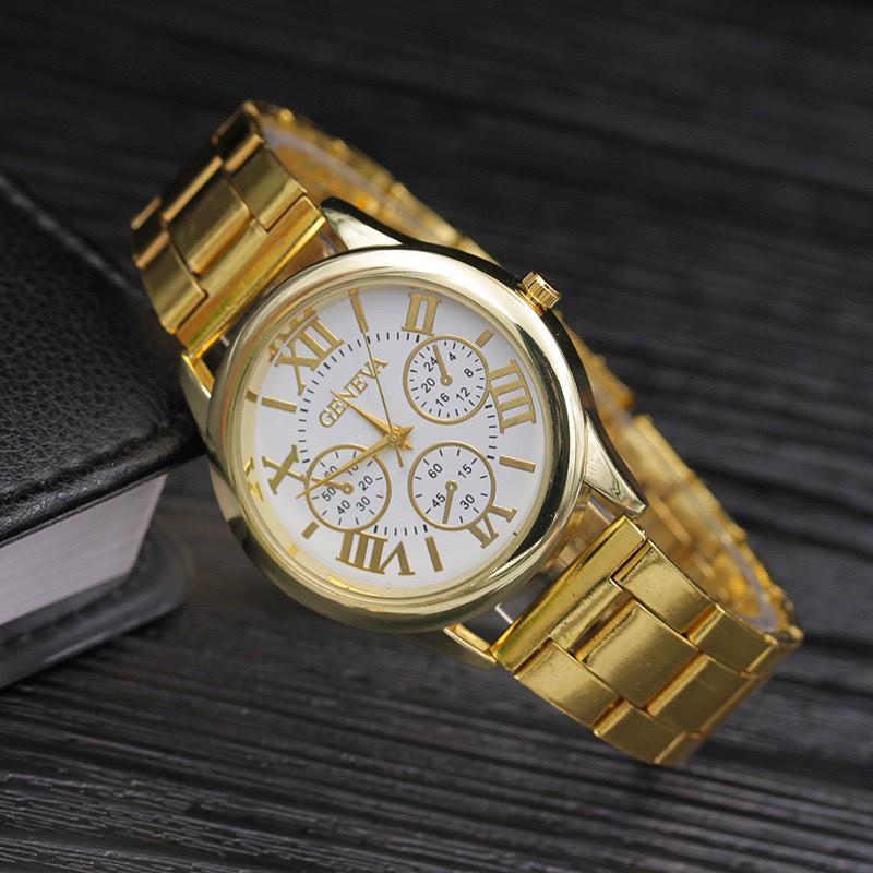 Đồng hồ nam nữ thời trang Geneva lịch lãm cực đẹp DH98 giá rẻ