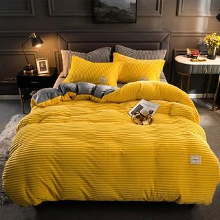 Bộ chăn ga gối lông cừu 4 món Hàng cao cấp - uy tín- chất lượng tạo cảm giác ấm áp cho phòng ngủ thumbnail
