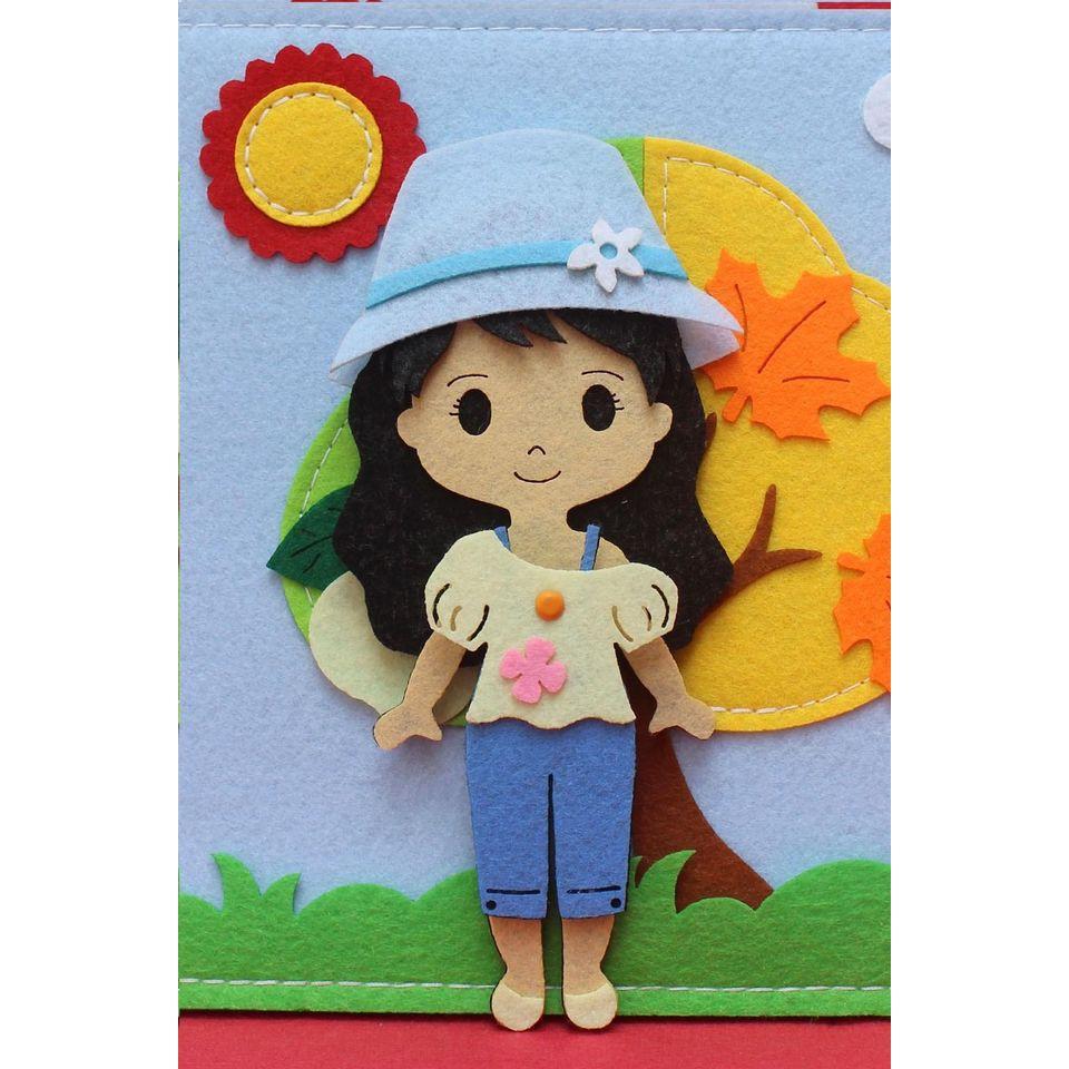 Sách vải thiết kế thời trang - Bộ sưu tập 4 mùa - Đạt chất lượng xuất khẩu  - An Toàn - Đồ chơi cho bé chính hãng 310,000đ