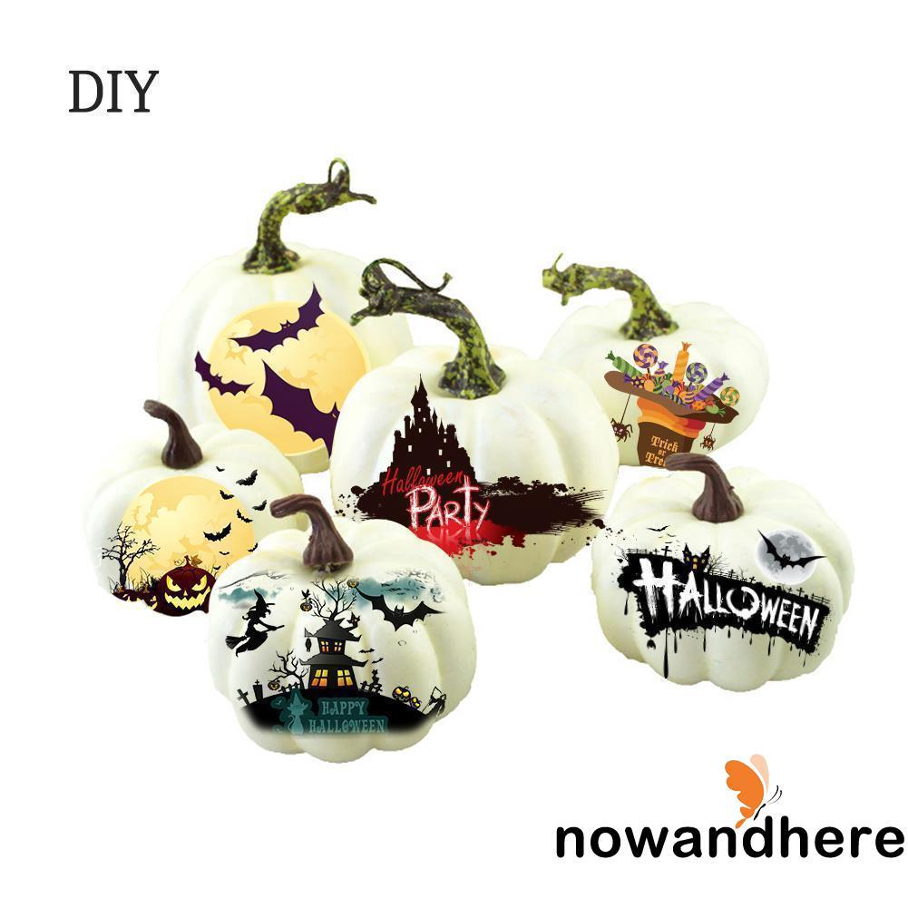 NE.-New 6PCS Halloween Artificial Mini Foam Pumpkin Simulation Props Kitchen