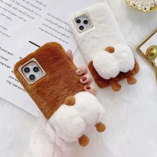 Ốp Lưng Phủ Lông Hình Mông Chó Corgi Cho Iphone 12 11 Pro Max X Xs Xr 7 8 Plus 6 6s 11 Pro