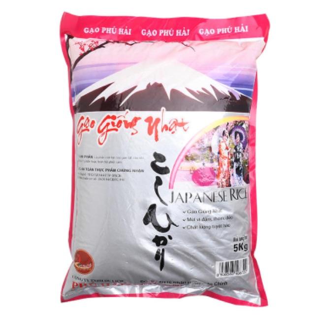 Gạo giống Nhật Phú Hải 5kg