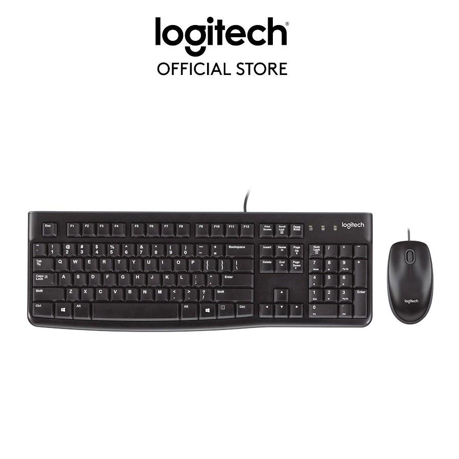 Bộ bàn phím và chuột có dây Logitech MK120