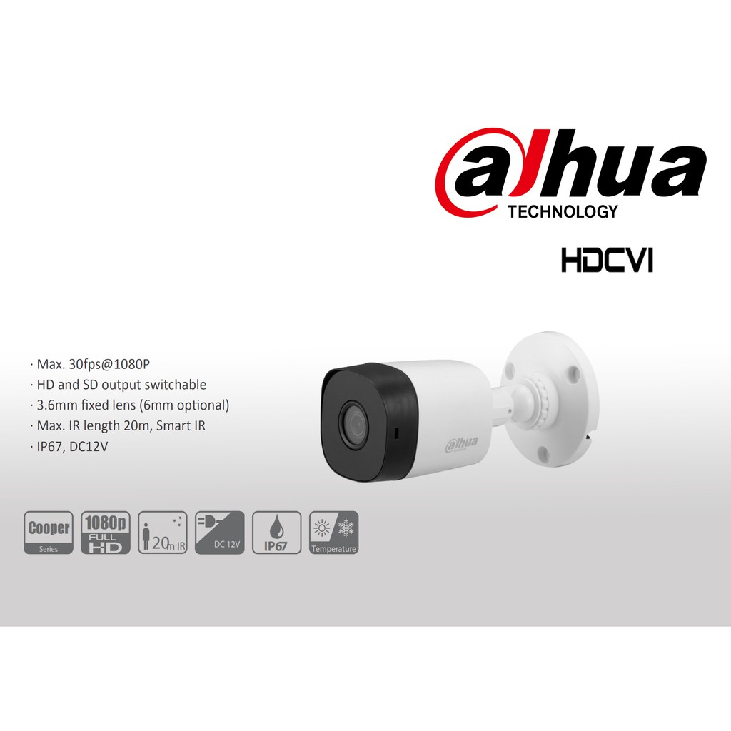 Camera Dahua DH-HAC-B1A21P (2mp) - Hàng chính hãng DSS bảo hành 24 tháng