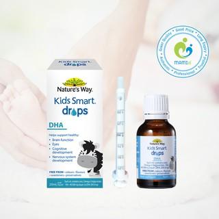DHA giọt (20ml) phát triển trí não cho trẻ từ 4 tuần tuổi Nature s Way Kids Smart DHA Drops, Úc thumbnail