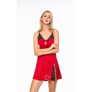 Dreamy VS06 Váy ngủ lụa cao cấp hai dây gợi cảm quyến rũ thumbnail