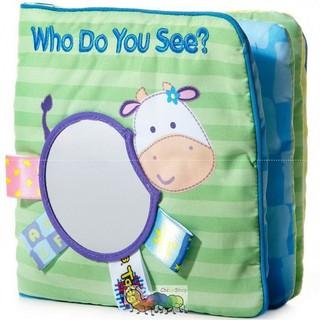 Sách vải hình con bò Who do you see? – Taggies