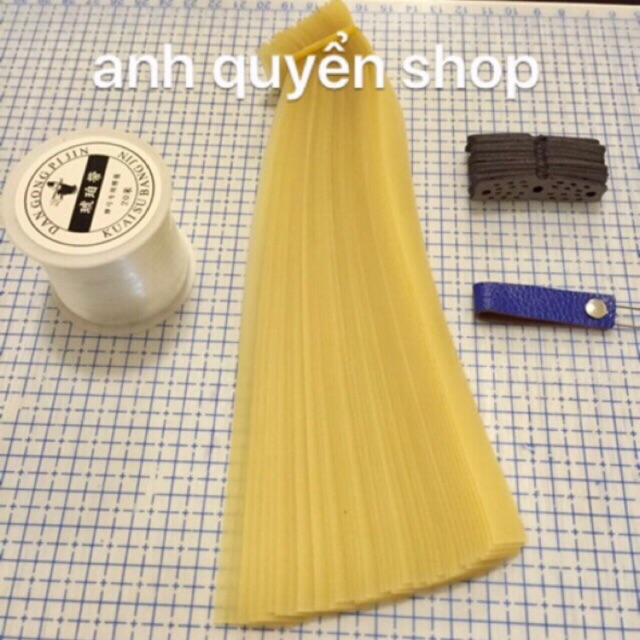 20 bộ thun latex cắt sẵn + 10 da 1 cuộn dây buộc