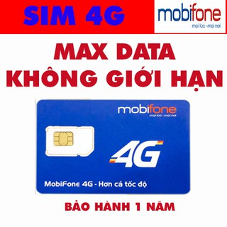 Sim 3g/4g Mobiphone Max Băng thông không giới hạn dung lượng