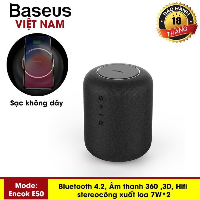 Loa Bluetooth Không Dây Thông Minh Baseus Encok E50 Kiêm Đế Sạc Không Dây Cho Smartphone Âm Thanh 3D 360 Độ Surround
