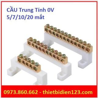 Cầu đấu trung tính loại tốt - chịu tải lớn - Cầu mát 0v -TBĐ -Thiết bị điện giá tốt thumbnail