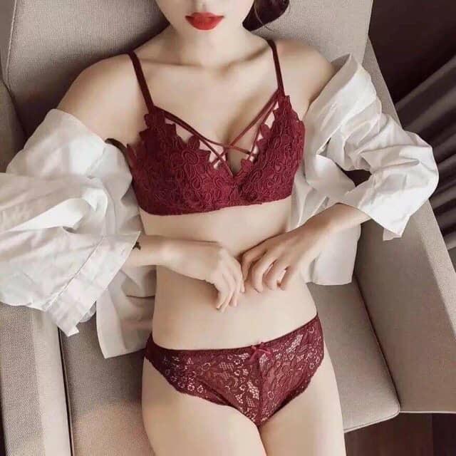 Bộ Đồ Lót Ren Nữ Đan Dây Sexy LR01