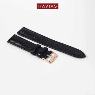 Dây đồng hồ HAVIAS Tradis_khóa vàng (Gold)