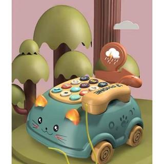 Điện thoại đồ chơi phát nhạc cho bé trai và bé gái dưới 3 tuổi, chất liệu nhựa an toàn, cho bé phát triển vận động thumbnail