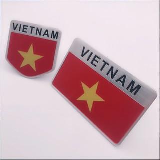 LoGo Biểu tượng cờ Việt Nam trang trí xe ( hợp kim ko rỉ - sơn tĩnh điện)