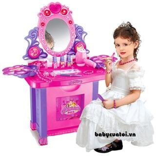 Bộ bàn, ghế trang điểm loại đại cho bé