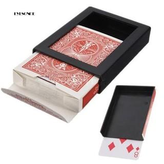 ♕Creative Deck Vanish Disappearing Vanishing Poker Card Close Trick Box Tool