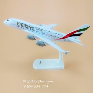 Mô hình máy bay tĩnh Airbus A380 Emirates Airlines 20cm