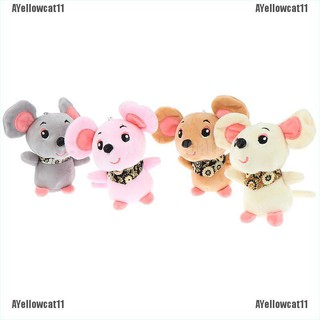 AYellowcat 12cm Rat Year Baby Kids Cute Soft Plush Small Mouse Doll Hamster Toy KeyChain