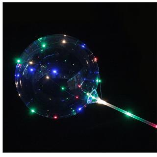 """18"""" LED String Light With Transparent Helium Balloons Christmas Wedding Party Decor - hình 4"""