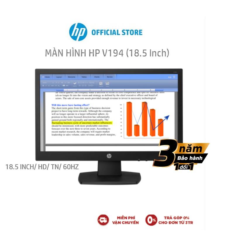 Màn hình máy tính HP V194 18.5 inch_V5E94AA - Hàng Chính Hãng