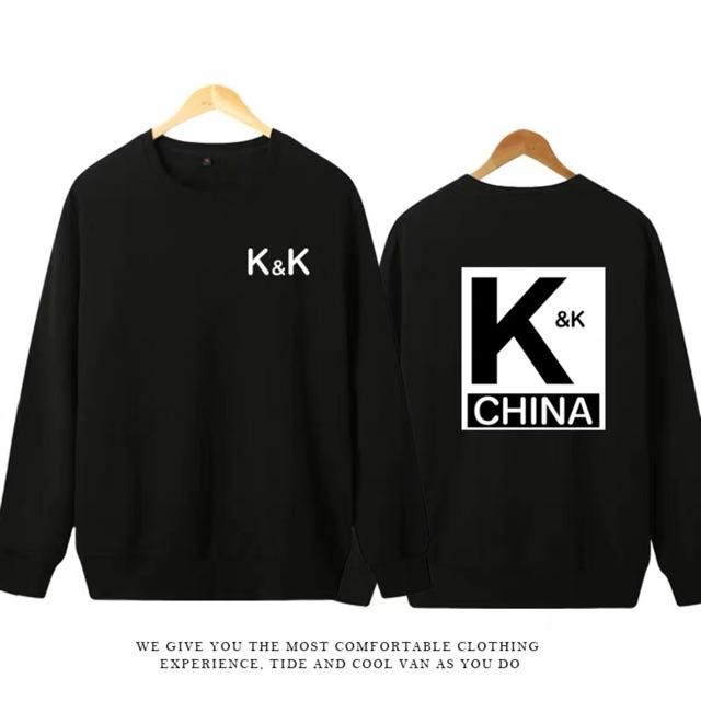 Áo hoodie ko mũ K&K cá mực hầm mật - Áo thu đông đẹp