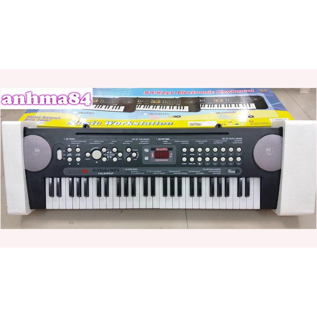 ĐỒ CHƠI Đàn organ điện Canto 54 phím HL-5499UF kèm radio FM - MP3 ( ảnh thật và clip )!!!!