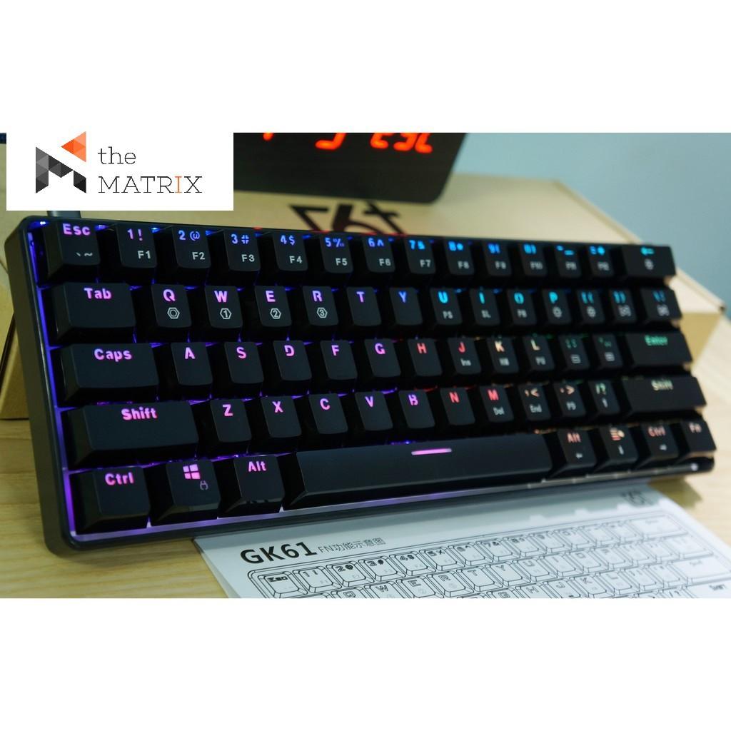 Bàn phím cơ GK61 – RGB, switch quang học Giá chỉ 950.000₫