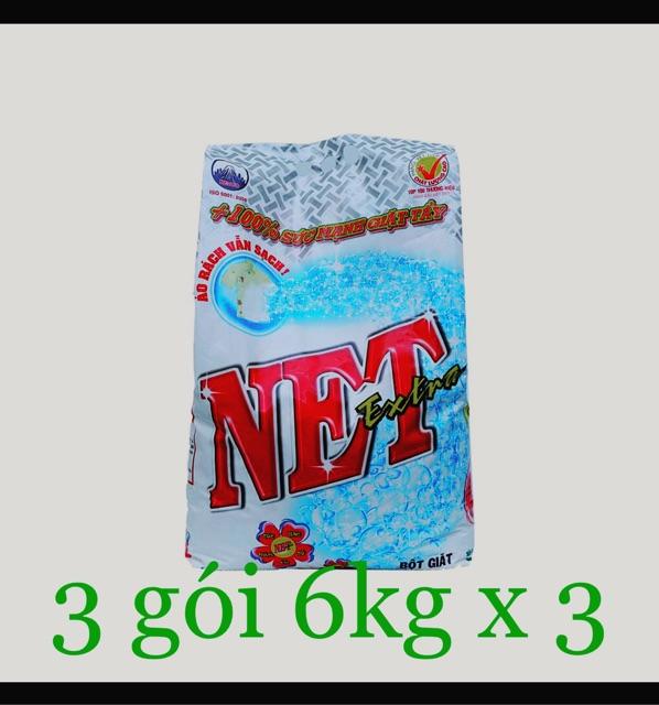 Thùng 3 gói Bột giặt Net Extra 6kg/gói ( nguyên t