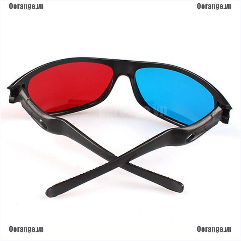 3D Glasses Red Blue Black Frame For Dimensional Anaglyph TV Movie DVD Game