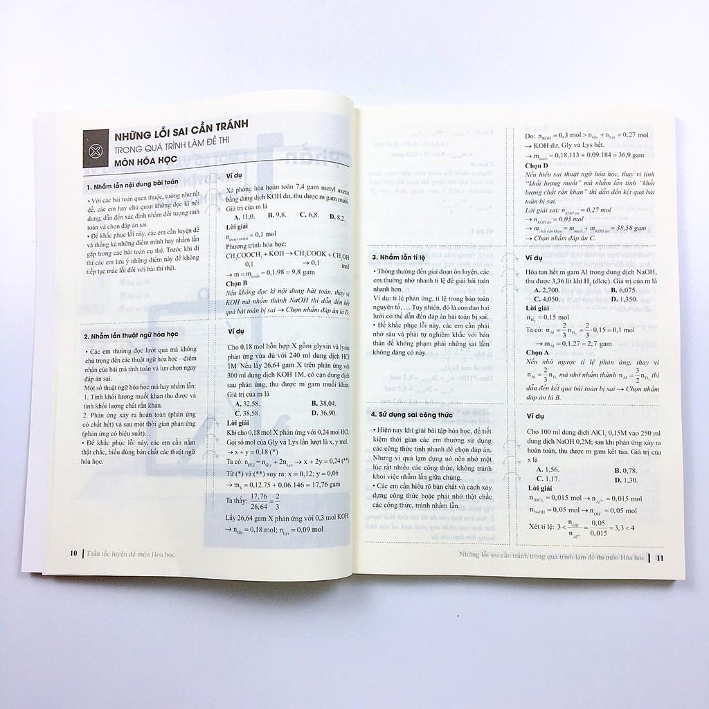 Sách CC Thần tốc luyện đề 2021 môn Hóa Học