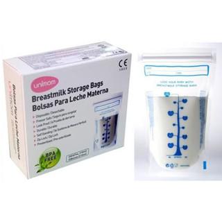 Túi trữ sữa mẹ Unimom Compact UM870350 không có BPA 210ml (10 túi hộp)