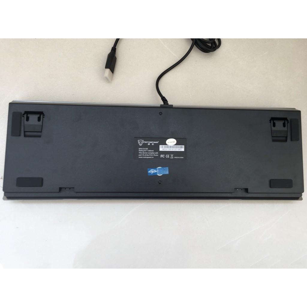 Phím cơ chuyên game MotoSpeed CK108 (xám) Led nhiều chế độ - NWH phân phối