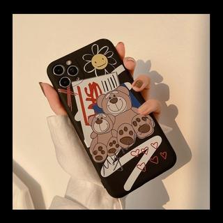 Ốp iphone  Ốp lưng Iphone 11 Ốp lưng iphone  Ốp lưng silicon Ốp iphone 12 pro max  Ốp iphone 12 mini Street fashion bear Phone Case For iPhone 11 Pro Max X Xr Xs Max 7 8 Plus Se 2020 12 pro max 12 mini