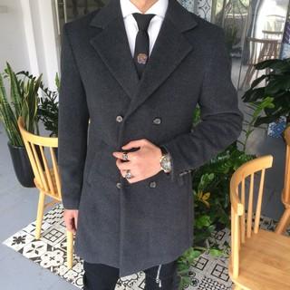 Nhập mã NANGA100 giảm 100k cho đơn hàng từ 2 sản phẩm quần/áo. Ảnh thật – Áo măng tô chất dạ dành cho nam