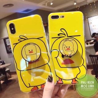 [ iphone 6 đến x xs ] ốp tặng kèm pocsocket vịt vàng tiktok