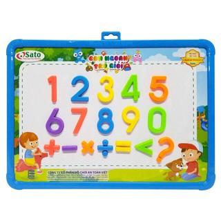 Bộ bảng và chữ số nam châm – Con giỏi toán 26 chi tiết