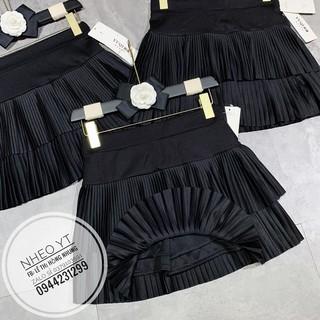 Váy Nữ,Chân Váy Ngắn Xếp Ly 2 Tầng Siêu Đẹp, Chất umi Hàn Cao Cấp (Có quần bên trong)
