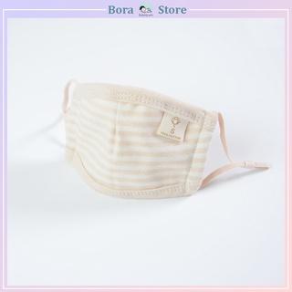 Khẩu trang cho bé, khẩu trang cotton hữu cơ cao cấp có thể điều chỉnh quai đeo