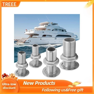 Treee Thru Hull Fitting Connector Stainless Steel MJS022 Outlet Joint for Boats Yacht Hose
