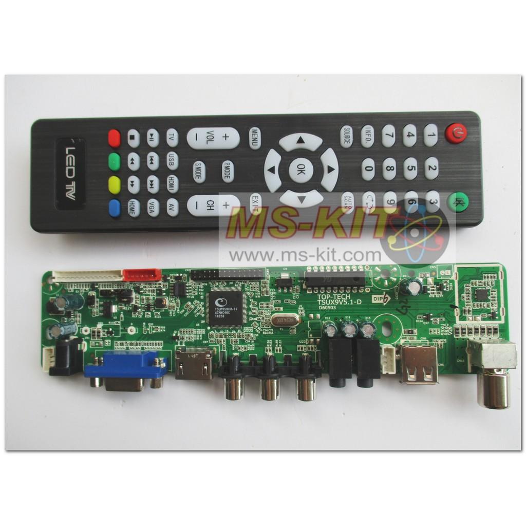 TOP-TECH V59 Bo TV LCD Led đa năng (Remote tiếng Anh)