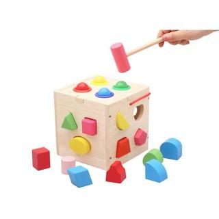 Hộp gỗ vuông thả hình 15x15x15