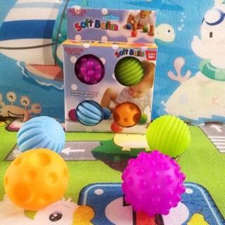 [Nhập TOY0210 giảm 10%] Chút chít bóng mềm tập cầm nắm/nhận biết màu sắc cho bé