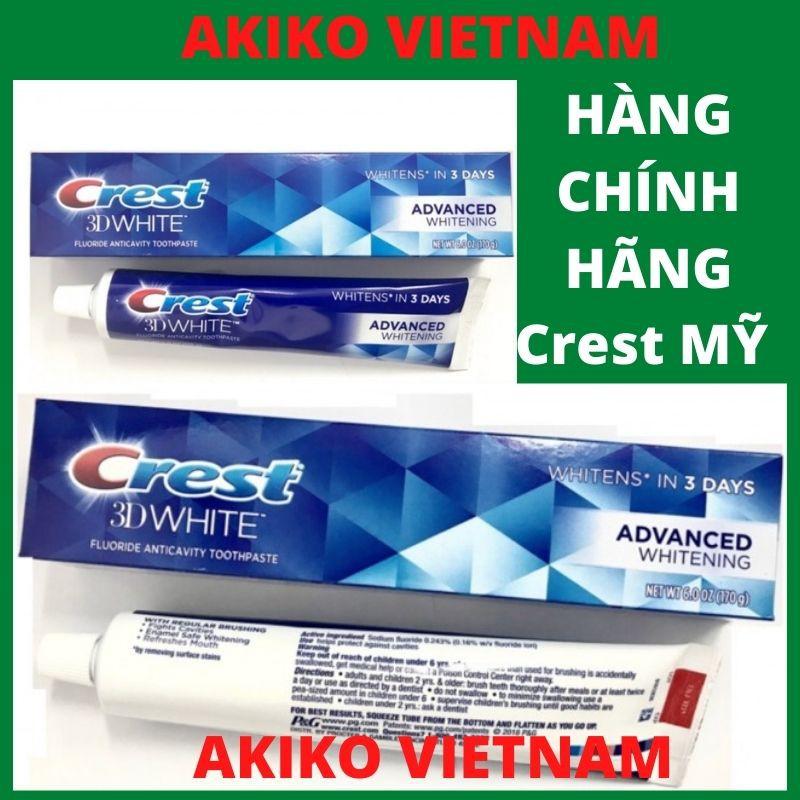 Kem đánh răng ❤ FREESHIP ❤ Kem đánh răng Crest 3D White Advanced Whitening 158g – crest